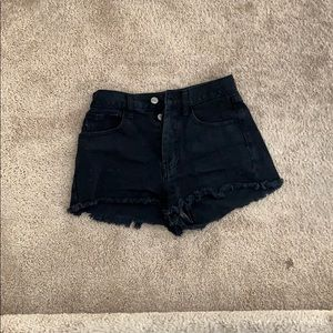 Adorable black cutoff shorts from Brandy Melville
